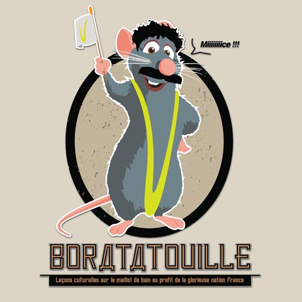 Fromage, maillot de bain et griffes acérees Boratatouille1